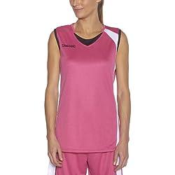 Spalding - Camiseta de baloncesto para mujer, tamaño L, color rosa