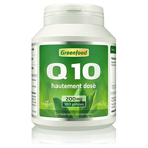 Greenfood - Coenzyme Q10 200 mg - Très HAUTEMENT dosé