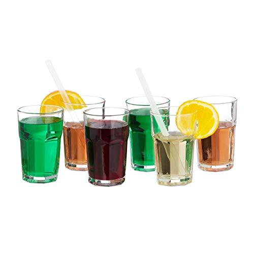 Feine Uniformen (Relaxdays Trinkgläser 6er Set, 300ml, Gastro, feines Kristallglas, Gläserset für den Haushalt, spülmaschinenfest, klar, Glas, Standard)