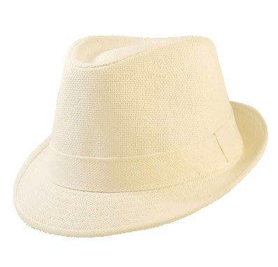 Chapeau-tendance - Chapeau Trilby Blanc Evan - 57 - Homme