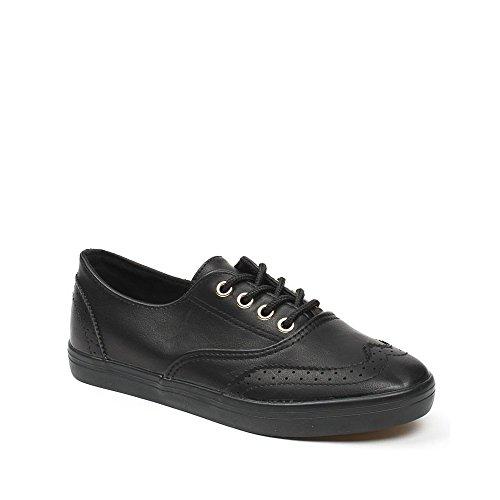 Ideal Shoes, Damen Sneaker Schwarz