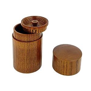 Boîte à thé japonaise fabriquée à la main en bois de jujube naturel, conteneurs pour contenir thé, épices, assaisonnement à rayures verticales