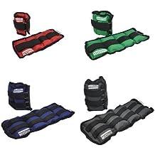 Hansson.Sports - Pesas en forma de manguito, para tobillo/muñeca 2x2,0KG grau