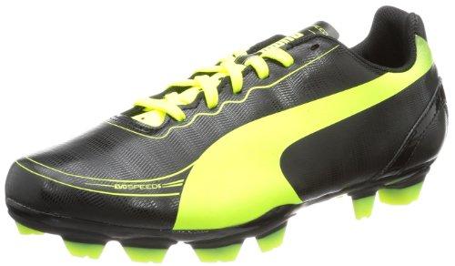 Puma evoSPEED 5.2 FG Jr 102887, Unisex-Kinder Fußballschuhe, Schwarz (black-fluo yellow 01), EU 36 (UK 3.5) (US 4.5)
