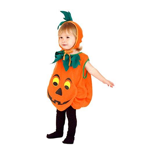 Imagen de pueri disfraz de calabaza de halloween traje para bebé niños de cosplay 2pcs de mono y sombrero s  alternativa