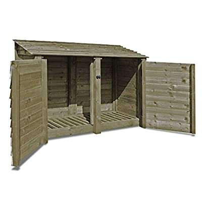 Hambleton 4ft High - Wooden Log Store/Garden Storage - Heavy Duty With Pressure Treated Wood