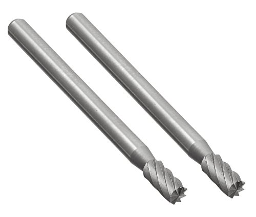 Proxxon 28722 Frässtifte aus Wolfram-Vanadium-Stahl Form Zylinder Ø3mm 2 Stück (Stahl-fräser)