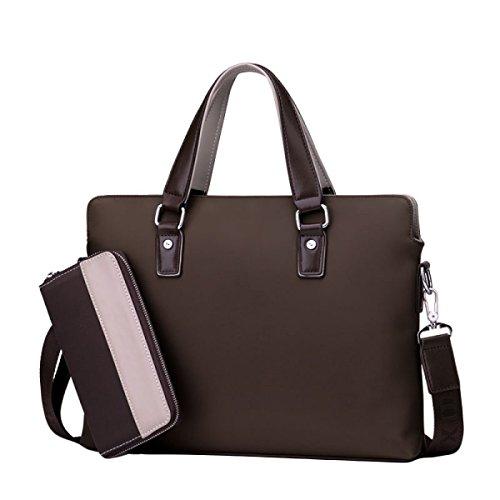 Herren Business Bag Bag Handtasche Computer Tasche Aktentasche Schultertasche Oxford Bag Large Capacity Brown+HandBag