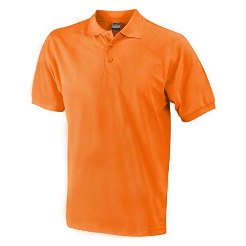 JAMES & NICHOLSON Hochwertiges Polohemd mit Armbündchen Orange