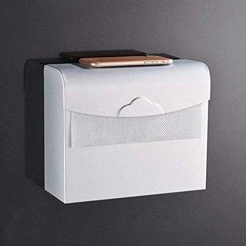 YNG Toilettenpapier-Zahnstangen-Badezimmer-Badezimmer-Raum-Aluminiumquadrat-Toilettenpapier-Kasten/Wasserdichter Papierhandtuch-Kasten-Toilettenpapier-Halter/Bandspule