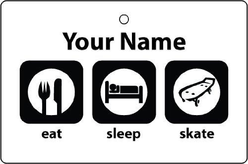 AAF Ambientador De Coche Personalizado EAT SLEEP SKATE BOARDING