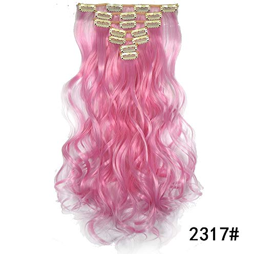LeeyღღღDamen Frauen Perücke Natur lange lockige Glattes Haar Wig hitzebeständiges Kunsthaar Schwarz für Cosplay Karneval oder Party, Fasching Kostüm Glamourös Haarteil ()