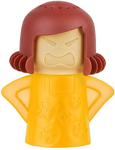 Angry Mama Reinigungsmittel für Mikrowelle, zum Kochen, Reinigungswerkzeug gelb