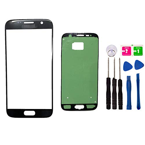 Original - Ersatz Front Außen Top Glas Lens Cover Screen für Samsung Galaxy S7 SM-G930 Handy Parts with Adhesive Tools Kit (NO LCD and Touch Digitizer), schwarz Lcd-touch Screen Kit