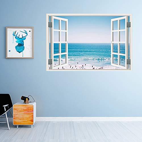 Yazidan Wandaufkleber Fenster Landschaft Wandaufkleber Farbenreiche Landschafts Landschafts falsche Landschaftsbild Wand Abziehbilder der Farben 3D -