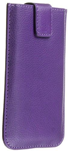 Trendz Universal Handyhülle Tasche Case Pouch für Smartphone - Union Jack Lila Metallic Lila
