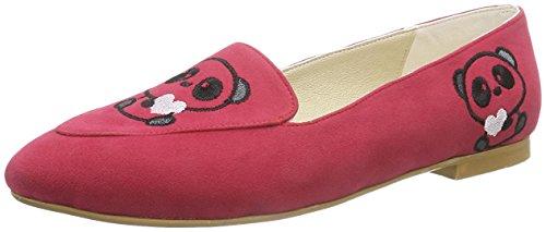 Neefs  Embroidered Shoes, Chaussures de ville à lacets pour femme Framboise