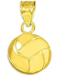 10 Quilates 471/1000 Oro Encanto Voleibol Deporte Colgante