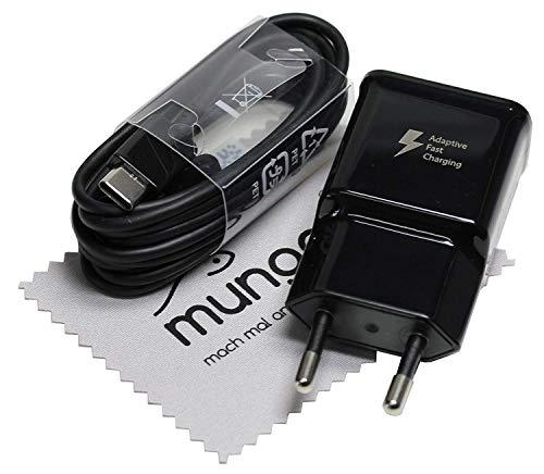 Ladegerät für Original Blitz Ladekabel für Samsung Galaxy S10 (G973F), Galaxy S10 Plus (G975F), Galaxy S10e (G970F) USB Typ-C Kabel Datenkabel Charge Cable mit mungoo-Displayputztuch -