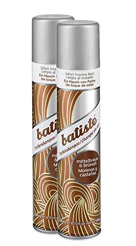 Batiste Dry Shampoo (2er Pack) - Trockenshampoo - Color brünett (2x200ml)