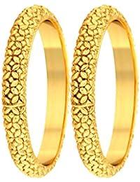 dc090ebd4ad Meenaz Temple Jewellery Gold Pearl Traditional Bracelet Bangles Set for  Women Fancy Stylish Bangle - BA