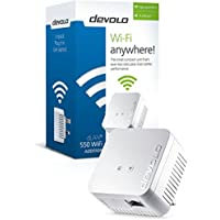 devolo dLAN Powerline 550 Wi-Fi Add-On Adapter, speeds up to 500 Mbps, easy installation, wifi socket, WiFi Move Technology, whole home wifi
