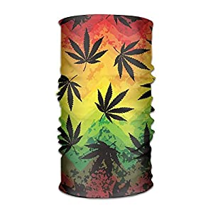 NDJHEH Stirnband Grunge Weed Marijuana Women&Men Neck Gaiter Magic Headwear Headband Face Bandana Mask Sport Scarf Neckwarmer Headwrap 12 In 1 Multi Function
