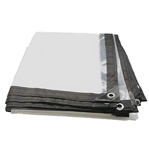HCYTPL Leichte transparente Tarpaulin Anti-Regen, Outdoor-Gewächshaus-Memorbefürchte, klare Tarp-Isolierfolie,5 * 8m