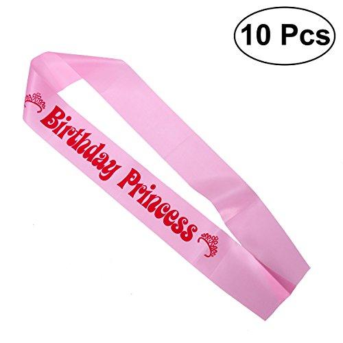 chen Prinzessin Schärpe Geburtstag Schärpe Party Birthday Dekoration Geschenke (Rosa) ()