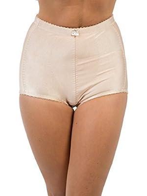Womens/Ladies Underwear Shapewear Medium Control Tummy Tuck & Bum Lift Brief, Skin Large