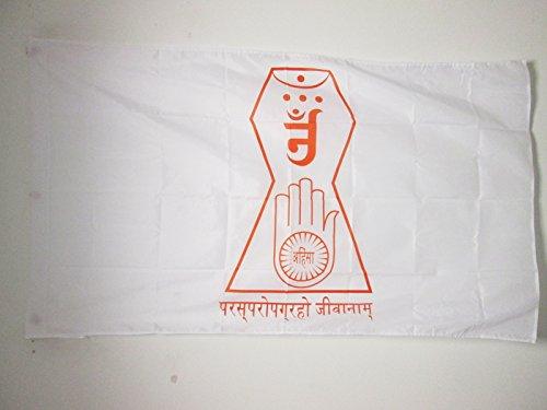 AZ FLAG Flagge JAINISMUS KOSMOGRAFIE 150x90cm - JINISMUS Fahne 90 x 150 cm Scheide für Mast - flaggen Top Qualität