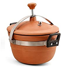 3 Ltr Clay /Earthen Cooker for Curry / Dal /Frying with Lid--- Earthen products are good for health
