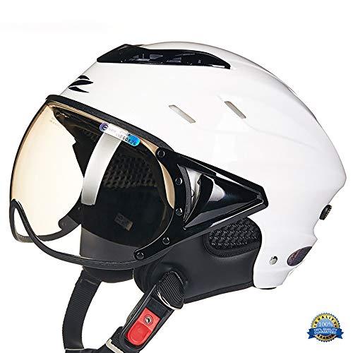 MOMAMO Casco Moto, Casco Jet Moto,Omologato ECE Scooter Motorino Chopper ·Elmetto Super Traspirante Casco di Protezione UV elmetto Estivo