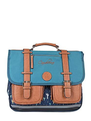 Cartable 38 cm Caméléon Vintage. Coloris Bleu...