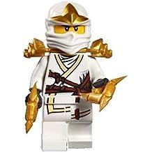 LEGO Ninjago Minifigur Zane Zx with two Shuriken (9445 9449 9440 9554)