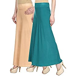 Rooliums Womens Trendy and Stylish Palazzo Pack of 2 (Beige, Sea green, Free Size)