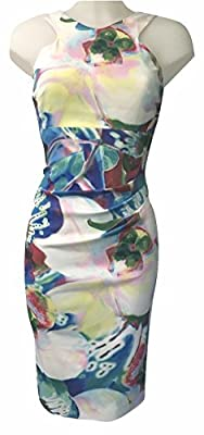 Karen Millen Oversized Orchid Print Pencil Dress, Satin Multi