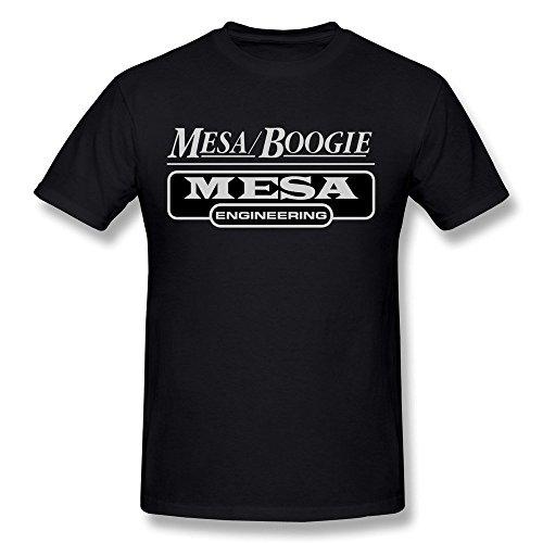 Night spread Men's Mesa Boogie Logo T-shirt Black Tee (Black Mesa-shirt)