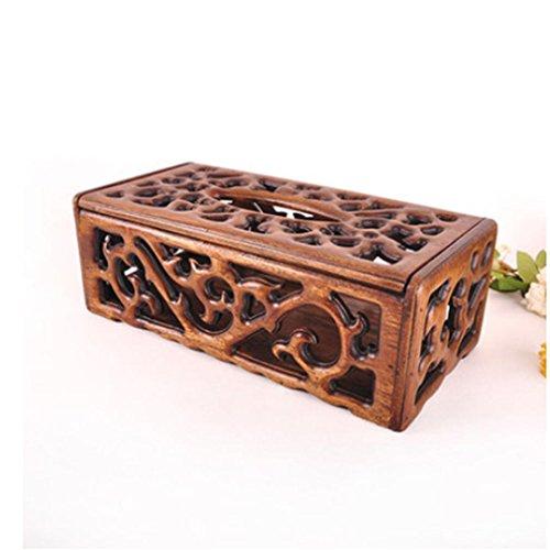 SQL Haushalt Holz Gewebe Box europäischen kreativen Retro-Luxus Pumpen Fach gehobenen Holzschnitzerei