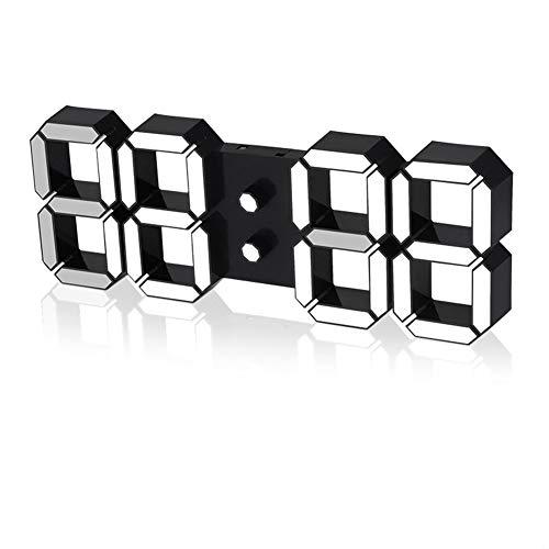 LICHUXIN Wetterstation Projektion 3D Uhr Das Produkt ist schwer 230g Sensor displaymoon Anzeige und Alarmzyklus Spiegeltakt Touch lightclock Morgenlauf in ABS-Material