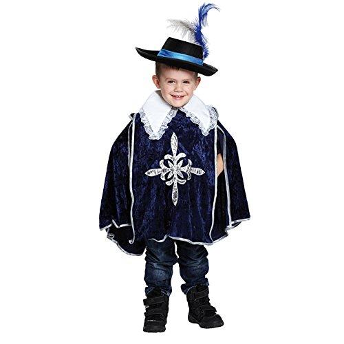 Kostüm Gefallen Samt - Musketierkostüm Kostüm Musketier Musketiere blau samt Gr. 104, 116, 128, 140, 152, 164, Größe:140