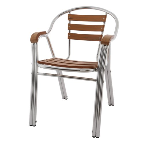 Rotin Design Chaise, Teck, Marron