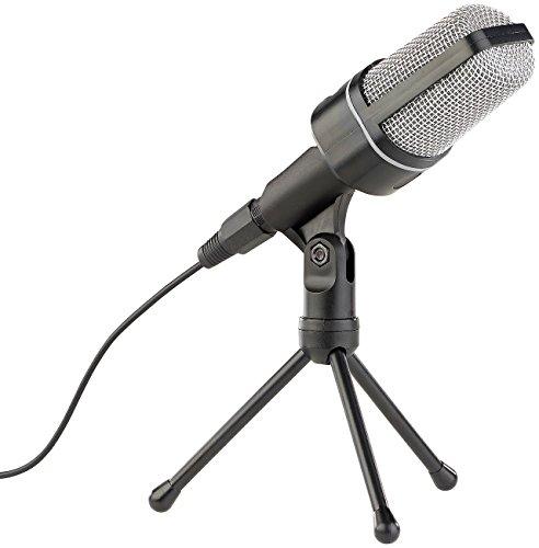 auvisio Stand Mikrofone: Profi-Kondensator-Studio-Mikrofon mit Stativ, 3,5-mm-Klinkenstecker (PC Mikrofon)