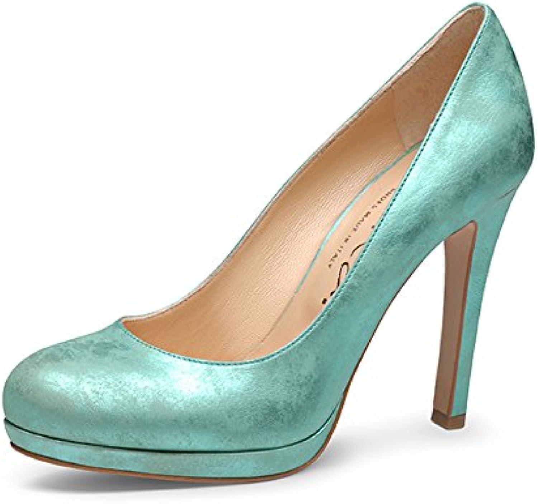 Evita Shoes Cristina Escarpins Femme Femme Femme Cuir Lisse Turquoise 34B00WL75CSKParent cf51c1