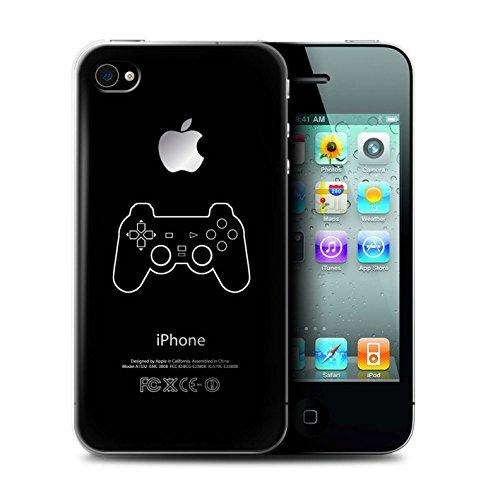 Coque de Stuff4 / Coque pour Apple iPhone 4/4S / Xbox 360 Noir Design / Manette Jeux Vidéo Collection PS1/PS2/PS3 Noir