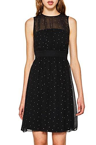 ESPRIT Collection 117eo1e019, Vestido de Fiesta para Mujer, Negro (Black 2 002), 42