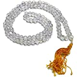 Shiva Sharan Sphatik Mala / Crystal Quartz Mala 12 MM Round 108+1 Beads ( Spiritual & Healing Mala ) Very High Quality Crystal Shaped Properly Matted And Wired Together, Spiritual Product Sphatik Mala Packed In Beautiful Red Box