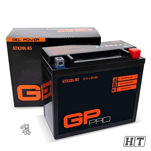 GP-PRO GTX20L-BS 12V 20Ah Gel GP-Pro (Ähnlich YTX20L-BS / YTX20L-4) (Wartungsfrei/Versiegelt) Akkumulator Motorrad Motorradbatterie