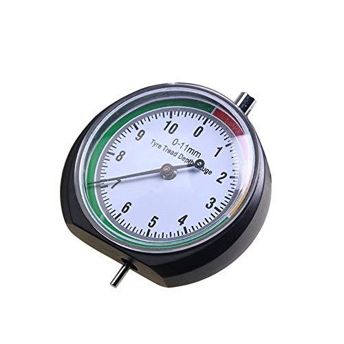 CESHUMD Reifenprofil-Tiefenmessgerät, 0-11 mm, 0-0,43 Zoll Reifenmessung für Auto, LKW, Fahrrad, Motorrad