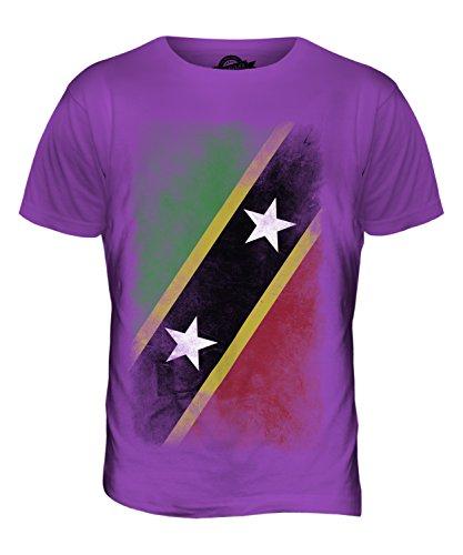 CandyMix St. Kitts Und Nevis Verblichen Flagge Herren T Shirt Violett